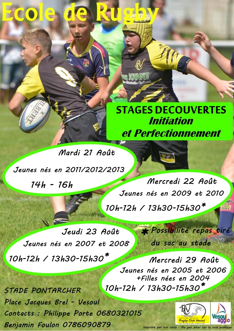 STAGES ETE
